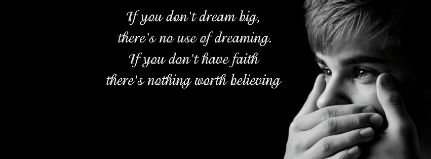 justin bieber quotes facebook cover on we heart it