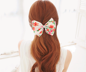 accessories, bow, and hair image