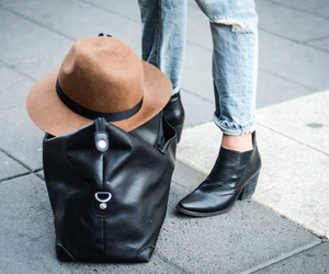 bag, hat, and fashion image