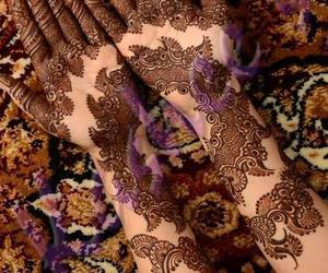 henna, wedding, and design image