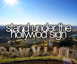 hollywood, beforeidie, and usa image