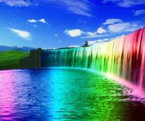colors, waterfall, and nature image