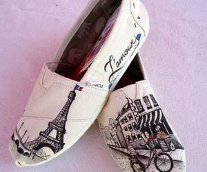 paris, shoes, and toms image