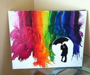 art, couple, and colors image