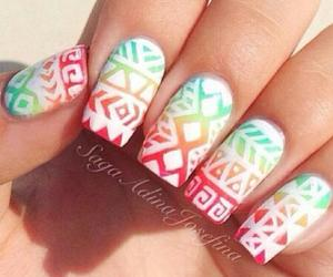 nails, colors, and red image