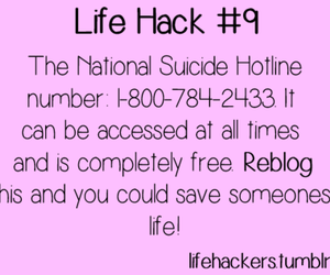 suicide, life, and hotline image