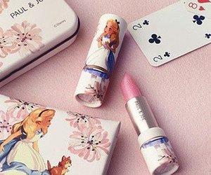 lipstick, alice, and alice in wonderland image