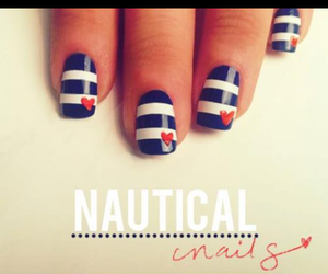 nails, nautical, and sweet image