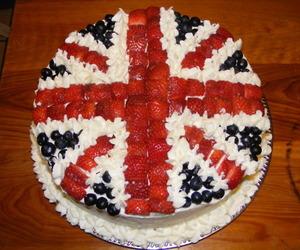 cake, england, and flag image