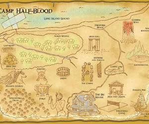 map, mapa, and camp half blood image
