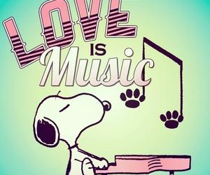 snoopy, music, and love image