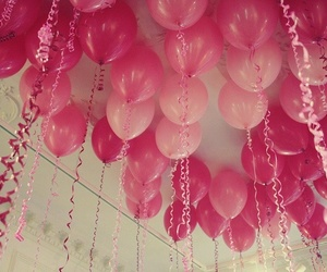pink, balloons, and party image