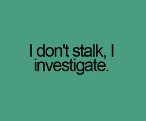 stalk, investigate, and quote image