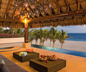 beach, luxury, and house image