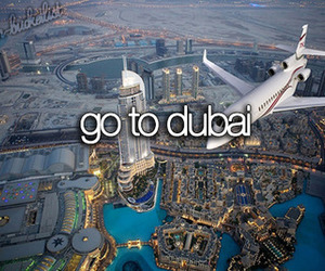 Dubai, travel, and Dream image