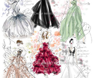 delicate, elegant, and fashion sketches image