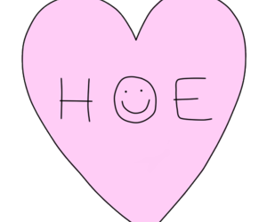 heart, hoe, and pink image