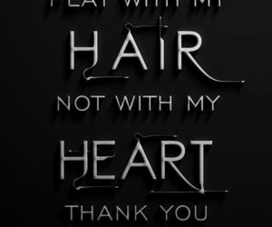hair, words, and heart image