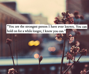 quote, strong, and life image