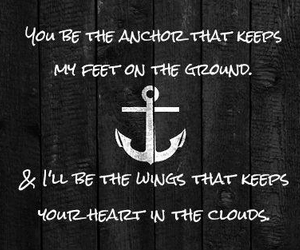 anchor, clouds, and love image