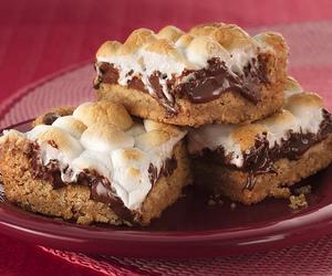 food, chocolate, and smores image