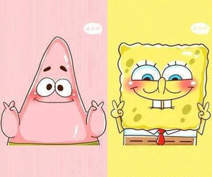 patrick, spongebob, and pink image