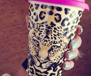 pink, leopard, and nails image