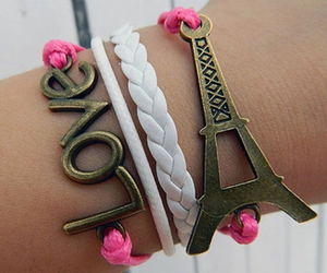 love, paris, and bracelet image
