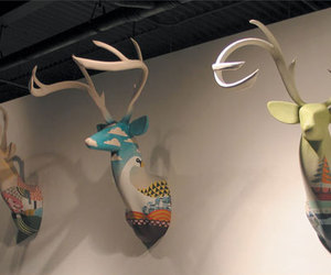 art, deer, and taxidermy image