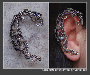 earring and gothic jewelry image