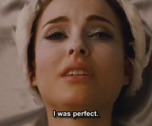 black swan, natalie portman, and perfect image