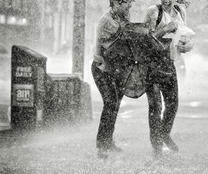 rain, couple, and photography image