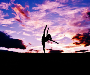 dance, dancing, and silhouette image