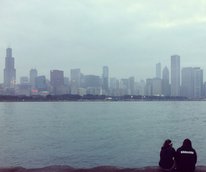 chicago, Lake Michigan, and chilling image