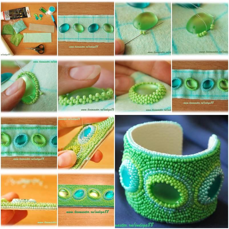 How To Make Beads Mint Bracelet Step By Step Diy
