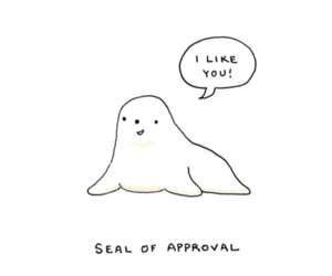 lol, pun, and seal image