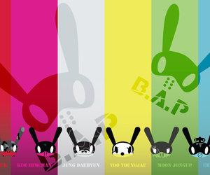 colors, rabbit, and bap image