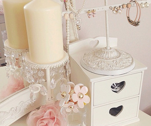 pink, candle, and girly image