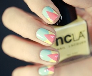 geometric, manicure, and nails image