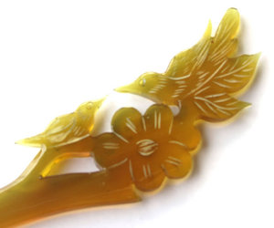 amber, bird, and flower image