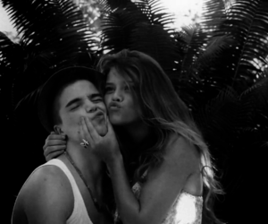 black and white, couple, and friend image