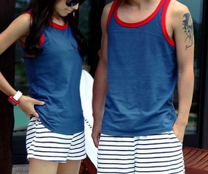 couple, matching, and boy image