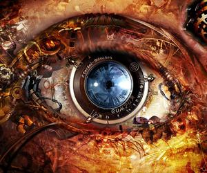 eye, eyes, and steampunk image
