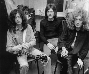 black and white and led zeppelin image