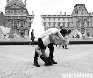 kissing, love, and louvre image