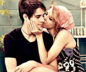 couple, kissing, and piercing image