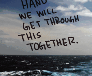 quote, together, and hand image