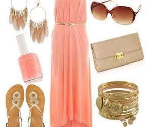 accessory, pink, and dress image