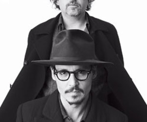 actors, johnny depp, and black and white image
