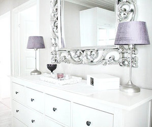 mirror, white, and home image